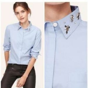 Loft》 Embellished The Softened Button Down